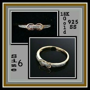 Jewelry - 18kt Gold Platinum Filled Zircon Ring
